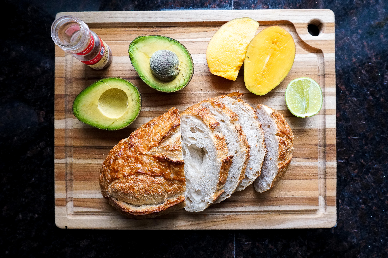 smoky mango avocado toast recipe ingredients
